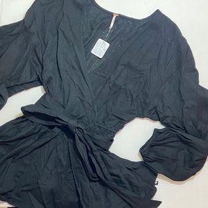 Free People black beach wrap tunic